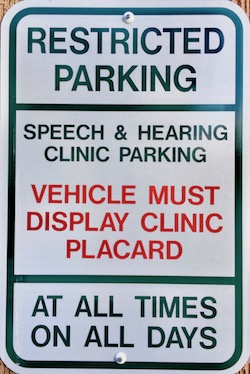 Clinic Parking Sign